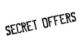 Secret Offers rubber stamp Stock Photos