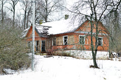 Secret of old house. The old house in the forest Stock Photography