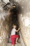 Secret passage at Bran castle, Romania Royalty Free Stock Image