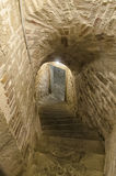 Secret passage in a medieval castle Stock Image
