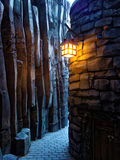 Secret passage in mystic world. Secret passage in the craggy landscape of a fantasy world Stock Photo