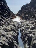 Secret passage to the amazing sea stock photo