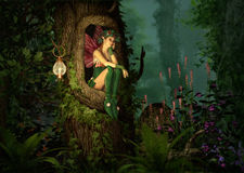 Secret Place royalty free illustration