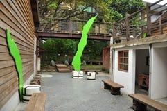 Secret pocket garden courtyard. Taipei, Taiwan Royalty Free Stock Photos