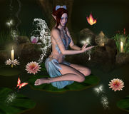 The secret pond Royalty Free Stock Photography