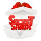 Secret santa claus invitation concept card template stock illustration