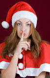 The secret santa girl Stock Images