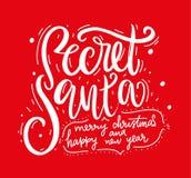 Secret Santa. Modern brush calligraphy. Vector lettering EPS 8 stock illustration