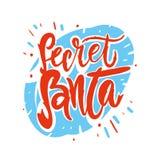 Secret Santa. Modern brush calligraphy. Vector lettering EPS 8 vector illustration