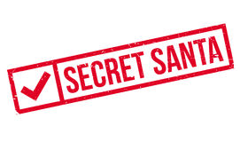 Secret Santa rubber stamp Stock Image