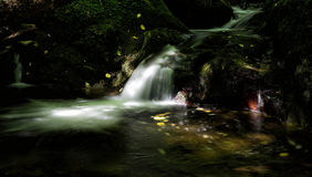 A secret Scottish waterfall. A hidden waterfall in the Scottish Highlans Royalty Free Stock Photo