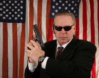 Secret service agent royalty free stock photos