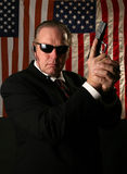 Secret service agent Stock Image