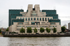 Secret Service Headquarters, London. LONDON, UK - JULY 6, 2014:  Office block containing the headquarters of the UK Secret Service, colloquially known as MI6 Stock Images