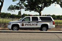 Secret Service. An image Secret Service police SUV in front of the White House in Washington DC stock photos