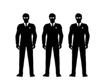 Secret service men in suits Stock Photography