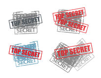 Secret. Set of stamps with top secret inscription Stock Photography