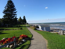 Secret Sidewalk. Along Lake Ontario in Rochester NY Royalty Free Stock Image