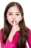 Secret silence. Little girl say silence is a secret Stock Images