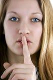 Secret (silence de subsistance) photos libres de droits