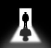 Secret silhouette Stock Images