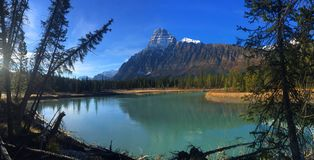 Secret spots in Banff National Park stock images