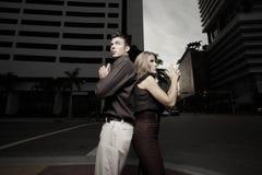 Secret spy couple Stock Photo