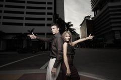 Secret spy couple Royalty Free Stock Photos
