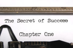 The secret of success stock photos