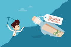 Secret of success. Flat design business concept Stock Photos