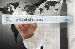 Secret of success written in search bar Royalty Free Stock Image