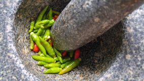 The secret of Thai cuisine. Thai food use a lot of chillies to made the delicious taste Stock Photos