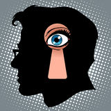 Secret thoughts of espionage vector illustration