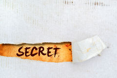 Secret title on old paper Royalty Free Stock Photos