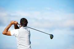 The secret to golf is in the swing Royalty Free Stock Photos