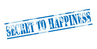 Secret to happiness blue stamp Royalty Free Stock Photo