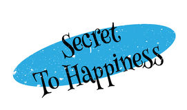 Secret To Happiness rubber stamp. Grunge design with dust scratches. Effects can be easily removed for a clean, crisp look. Color is easily changed Stock Photos