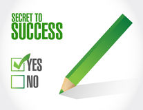 Secret to success approval sign concept Stock Photo