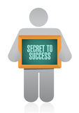 Secret to success avatar sign concept Stock Photos