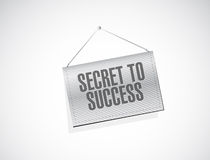 Secret to success banner sign concept Stock Images