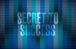 Secret to success binary background sign concept Royalty Free Stock Image
