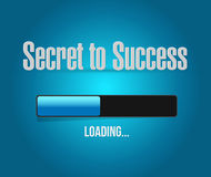 Secret to success loading bar sign concept Royalty Free Stock Photography