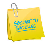 Secret to success memo post sign concept Stock Photos