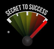 Secret to success meter sign concept. Illustration design graphics Royalty Free Stock Image