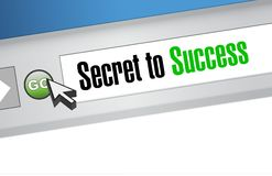 Secret to success online sign concept Stock Image