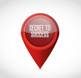 secret to success pointer sign concept Royalty Free Stock Image