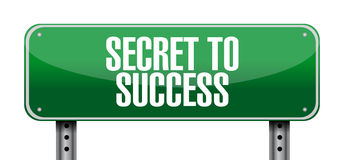 Secret to success post sign concept Stock Images