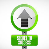 Secret to success road sign concept Stock Photos
