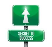 secret to success road sign concept Stock Image