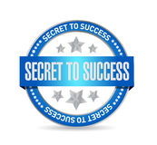 Secret to success seal sign concept. Illustration design graphics Royalty Free Stock Photo